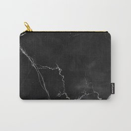 Marble Texture - Pitch Black & White Carry-All Pouch