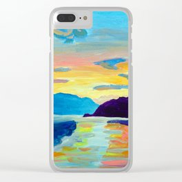 Crossing Lake Okanagan Clear iPhone Case