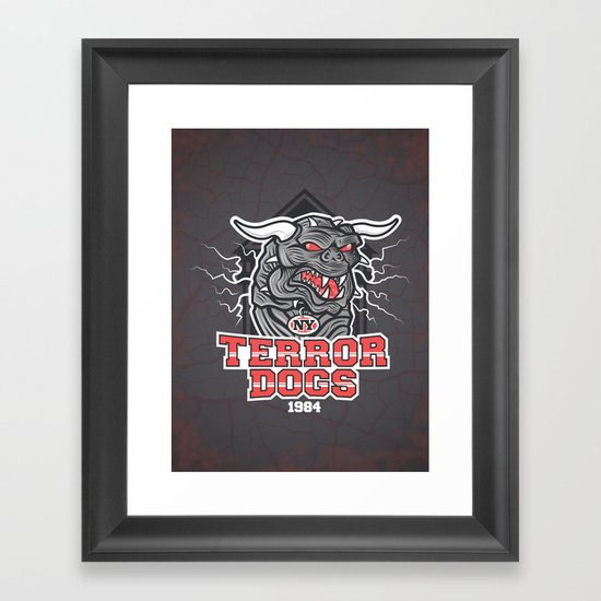NY Terror Dogs Framed Art Print