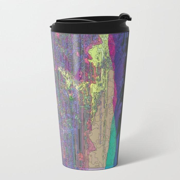 Falling in Purple Travel Mug