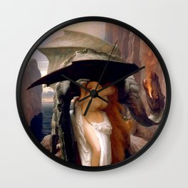 """Frederic Leighton """"Perseus and Andromeda"""" Wall Clock"""