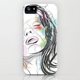 Portrait of a woman iPhone Case