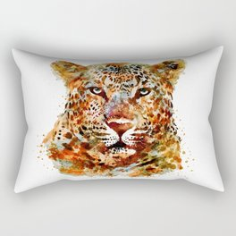 Leopard Head watercolor Rectangular Pillow