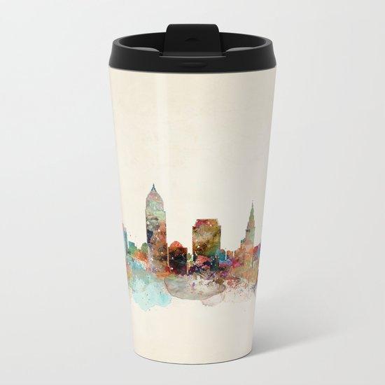 cleveland ohio skyline Metal Travel Mug