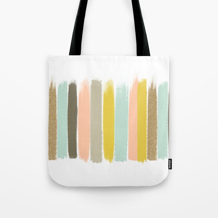 Madison - Brushstroke art print in modern colors bright and happy gifts for trendy girls Tote Bag