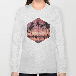 SUNSET PALMS- Geometric Photography Long Sleeve T-shirt