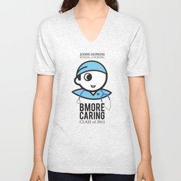 JHU Bmore Caring   Male Unisex V-Neck
