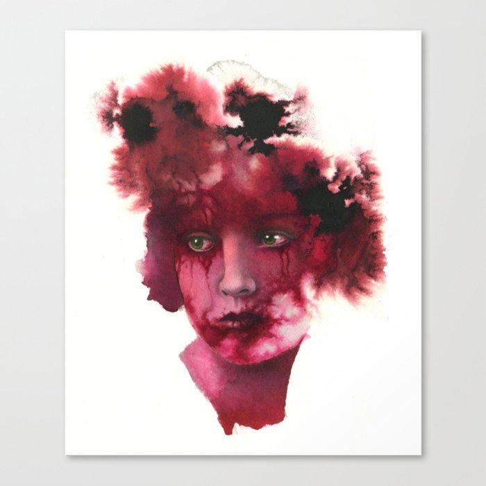 Blood Lady #2 Canvas Print