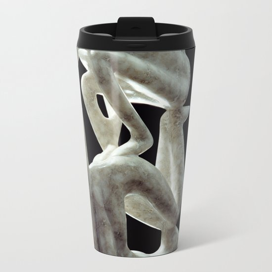 Amnon and Tamar by Shimon Drory Metal Travel Mug