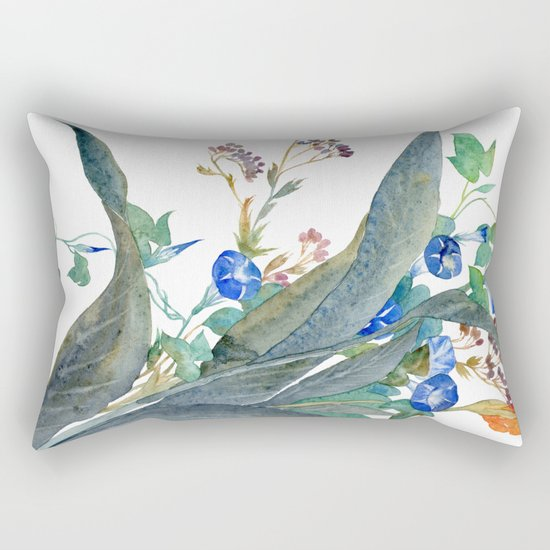 Feng shui flowers Rectangular Pillow