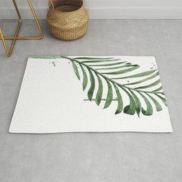 Palm Leaf Illustration Rug