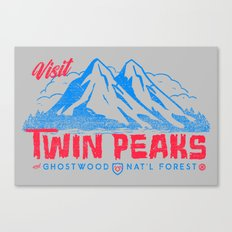 Visit Twin Peaks (hot pink) Canvas Print