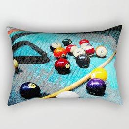 Billiard art and pool artwork 5 Rectangular Pillow