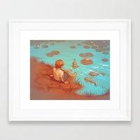 koi fish Framed Art Prints featuring Koi Fish by yinza
