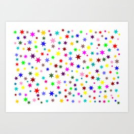 Colorful stars Art Print