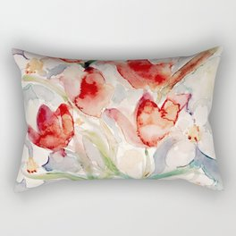 Tulips and Narcissi for Easter Rectangular Pillow