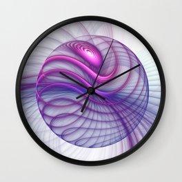 Beautiful Movements, Abstract Fractal Art Wall Clock