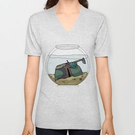 The Snail Conquers The Fett Unisex V-Neck