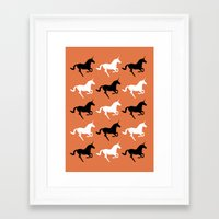 unicorns Framed Art Prints featuring Unicorns by Fabian Bross