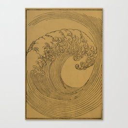 Vintage Golden Wave Canvas Print
