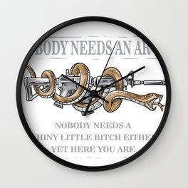 Nobody Needs An AR-15 Gun Rights Shirt Wall Clock