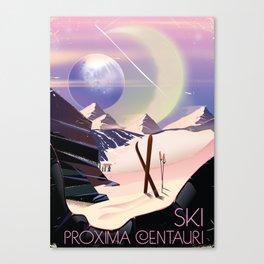 Proxima Centauri Vintage Sci-fi Ski travel poster Canvas Print