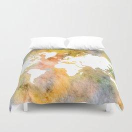Design 63 World Map Duvet Cover