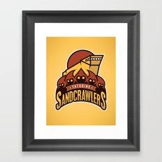 Tatooine SandCrawlers - Gold Framed Art Print