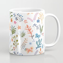 Rainbow Floral Pattern Coffee Mug