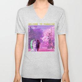 Retro Aesthetic Streetwear Gift Vaporwave Welcome to paradise Unisex V-Neck