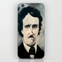 poe iPhone & iPod Skins featuring Poe by Christopher Chouinard