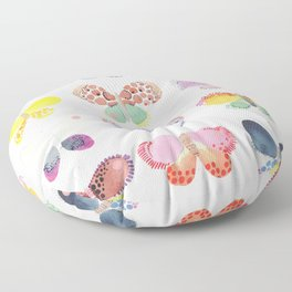 Painted butterflies Floor Pillow