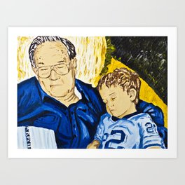 Bedtime Stories with Papa, 1984 Art Print