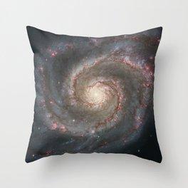 Whirlpool Galaxy Throw Pillow