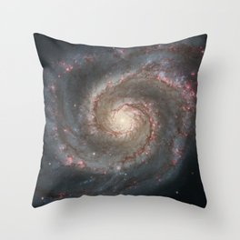 Whirlpool Galaxy Throw Pillow