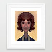 glee Framed Art Prints featuring GLEE by Laertis Art