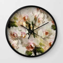 Painted Orchids Wall Clock