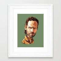 """rick grimes Framed Art Prints featuring Rick Grimes by Patrick Fodéré  """"Doud"""""""
