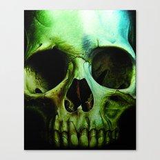 green skull Canvas Print