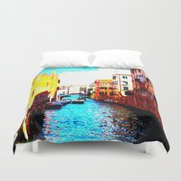 venice Duvet Covers featuring VENICE by Michelito