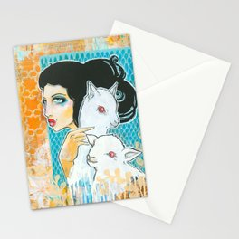Two and a Lamb Stationery Cards