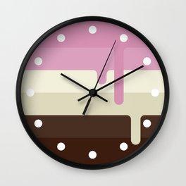 Dripping Neapolitan Ice Cream Wall Clock