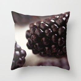 Blackberry Closeup Throw Pillow