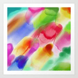 Watercolor Ink Blots Art Print
