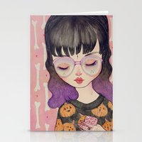 loll3 Stationery Cards featuring Pumpkin by lOll3