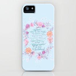 Amazing Grace - Hymn iPhone Case