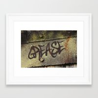 grease Framed Art Prints featuring Grease by Doug McRae