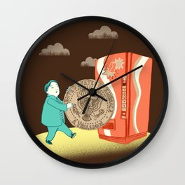 coin Wall Clock