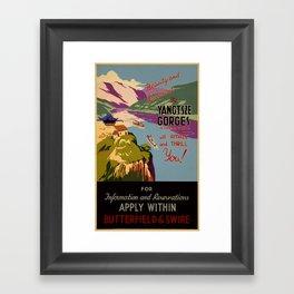 Beauty and grandeur – The Yangtsze [Yangtze] Gorges Framed Art Print