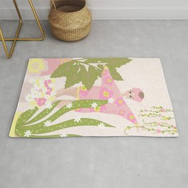 Dancing Plant Lady Rug